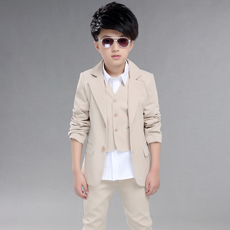 Wedding suits for baby boys 3 pieces set autumn spring 2018 kids leisure clothing sets kids baby boy suit vest gentleman clothes