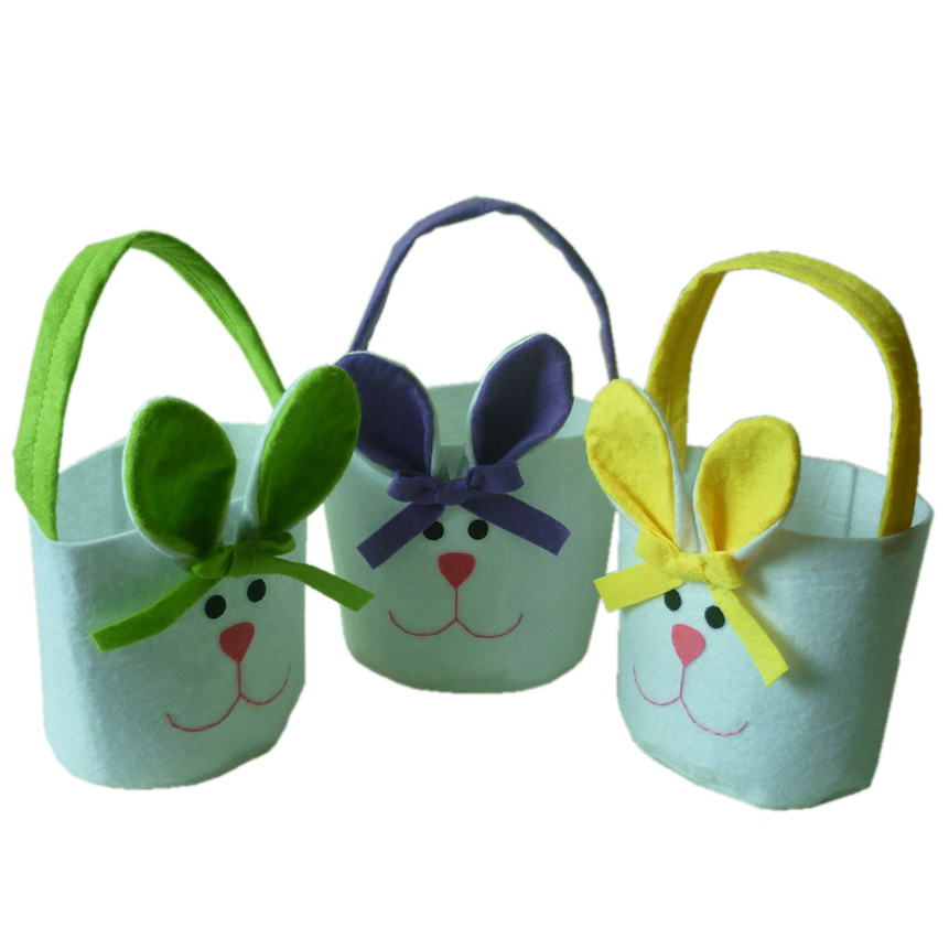 Online buy wholesale rabbit ear material bags from china rabbit easter gift bag non woven fabric material rabbit ear shape gift candy bags for kids negle Images