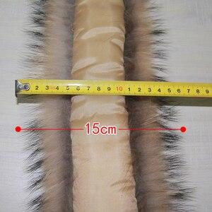Image 4 - Winter Real Raccoon Fur Collar 100% Natural Raccoon Fur Scarf 70CM Fashion Coat Sweater Scarves Collar Neck Cap