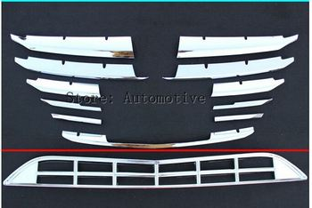 Untuk Mazda 3 Depan grille trims 2014 2015, chrome, 12 pcs/set,