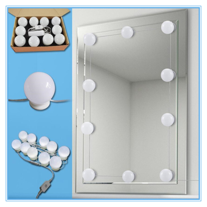 TS ML02A 10W hollywood style makeup mirror light bulb For Dressing Table Dimmable