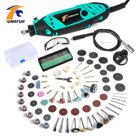 Tungfull Mini Drills EU Drilling Machine Flex Shaft Engraver Wood Drill Bit Woodworking Dremel Accessories For