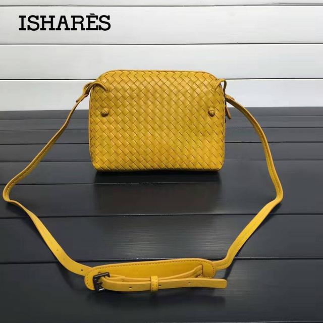 ISHARES Sheepskin Woven Luxury crossbody bags Women Girls messenger Handmade Designer Top Quality lambskin Bags Fashion IS324123