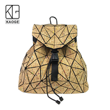 KAOGE Original Natural Cork Backpack Women Fashion Wooden Vegan Bag Female Backpacks Travel Bagpack Girl School Bag rustic natural cork wallet for men cork vegan handmade casual wooden eco wallet from portugal bag 200