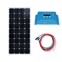 TUV Kit Solar Panel 12v 150w Charge Controller 12v/24v 10A PWM 3M Extention Cable Motorhomes Car Camp Marine BoatCaravan