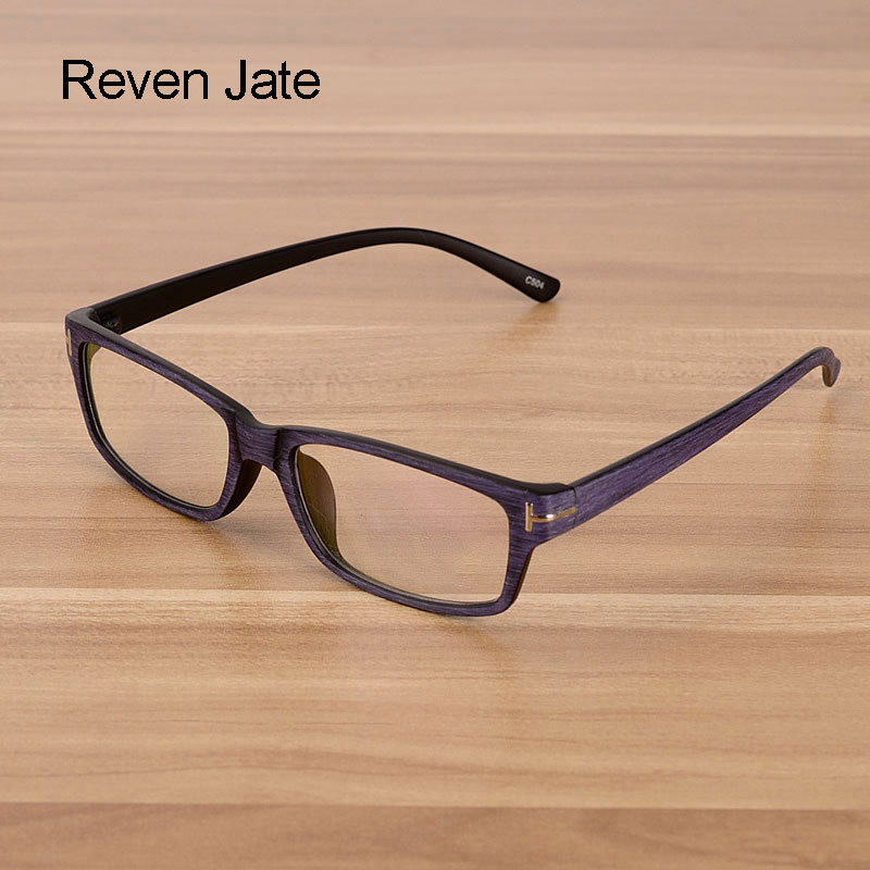 37d04b58ad Reven Jate Men and Women Unisex Wooden Pattern Fashion Retro Optical  Spectacles Eyeglasses High Quality Glasses