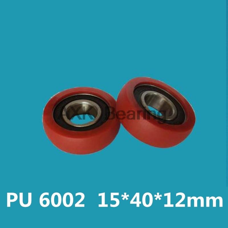 6002 R bearing pulley reinforced nylon wheel package plastic silent rolling wear-resistant mechanical roller 15*40*15mm.