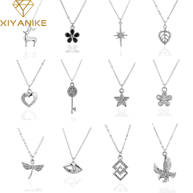Xiyanike 2017 big brand personality fashion animal plant shapes xiyanike 2017 big brand personality fashion animal plant shapes necklace choker jewelry for women necklaces aloadofball Gallery