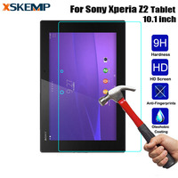 For Sony Xperia Z2 Tablet 10.1 SGP541/521 Explosion Proof Safety Protective Guard Film Clear LCD Tempered Glass Screen Protector|Phone Screen Protectors|Cellphones & Telecommunications -
