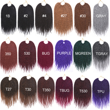 TOMO 12″ 14″ 16″ 18″ 20″ 22″ 20 Roots Senegalese Twist Hair Crochet Braids 15 Colors Crochet Hair Kanekalon Fiber Braiding