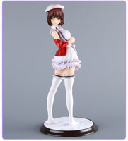 24 cm Japoński anime rysunek Saenai Heroine Nie Sodatekata Katou Megumi Stojak Ver. Sexy PVC Rysunek Kolekcjonerska Model Toy