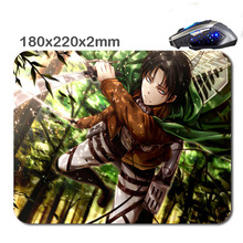 HOT SALES Custom Antiskid 3 D Levi Attack On Titan220 X180x2mm Office Accessory Tablet And Mini Pc Mouse Pad As  Gif