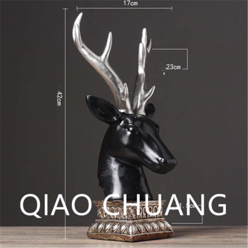 European Style Soft Adornment Money Drawing Simulation Deer Head Creative Colophony Crafts Home Furnishing Articles G795
