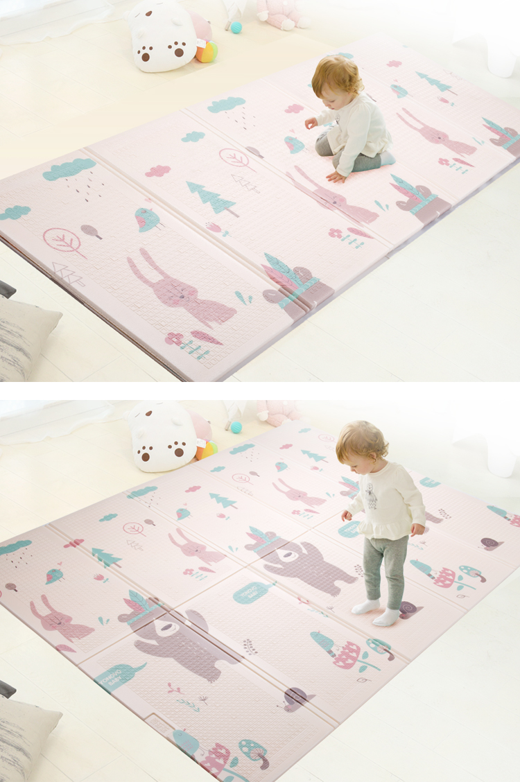 Infant Shining Foldable Baby Play Mat Thickened Tapete Infantil Home Baby Room Puzzle Mat  XPE 150X200CM Splicing 1CM Thickness