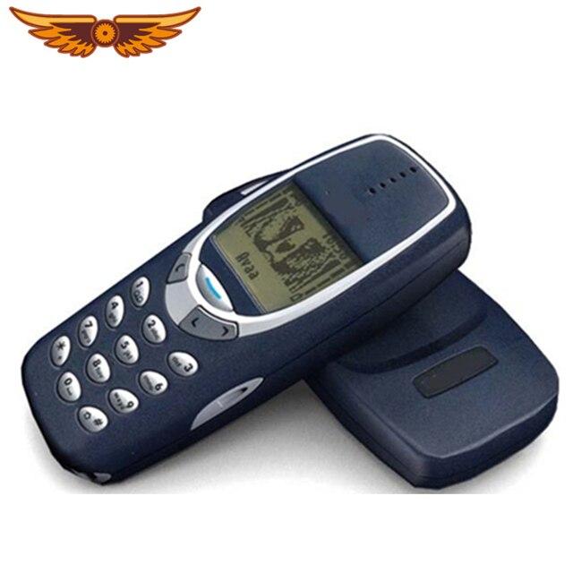 Năm 3310 Ban Đầu Mở Khóa Nokia 3310 Giá Rẻ 2G GSM Hỗ Trợ Nga & Tiếng Ả Rập Bàn Phím Tân Trang Lại Điện Thoại Miễn Phí Vận Chuyển