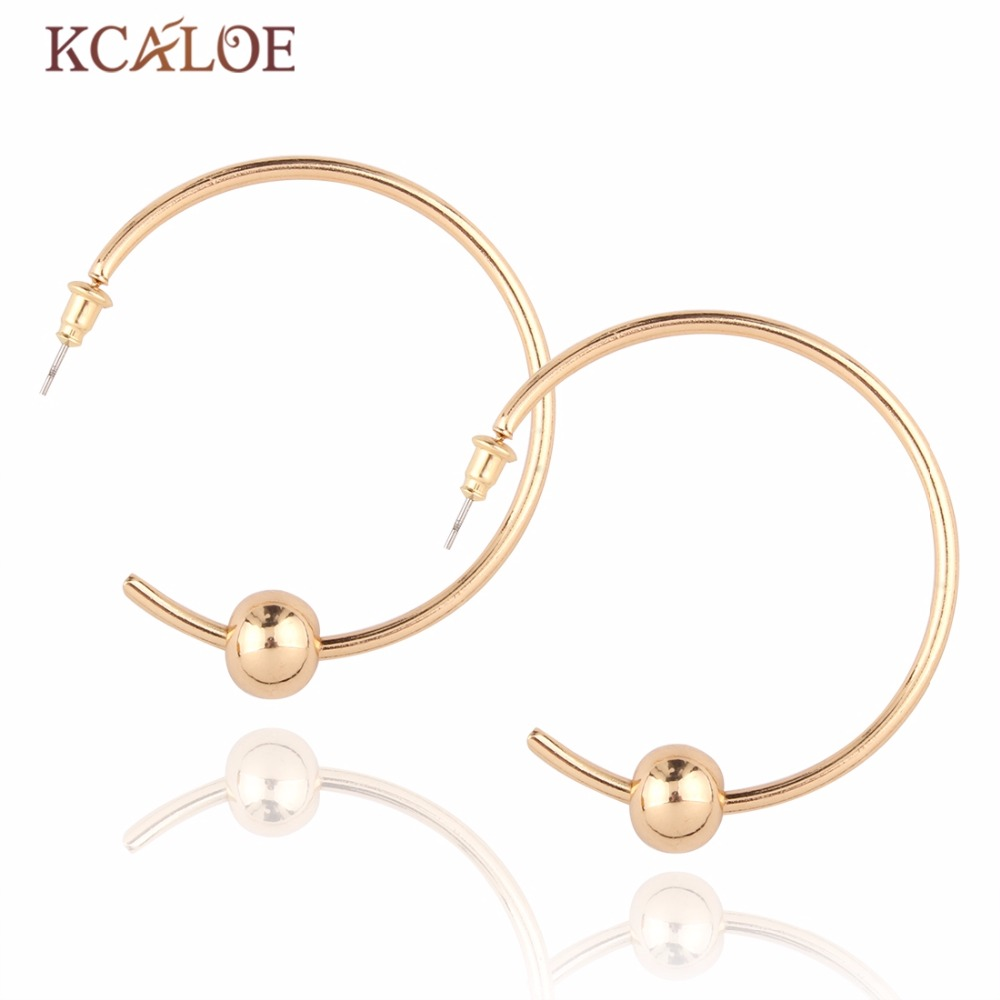 Kcaloe Round Earring Basketball Wives Trendy Gold Plated Fashion Jewelry  Wholesale Large Hoop Earrings Gold Circle