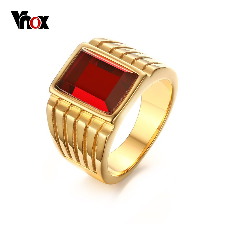 Gold Rings For Men With Stone