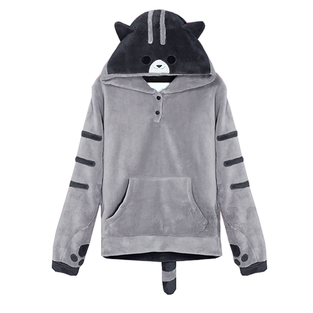 The cat backyard Anime Lovely logo Hoodie Jackets Hooded Tops Coat Sportswear Sweatshirt