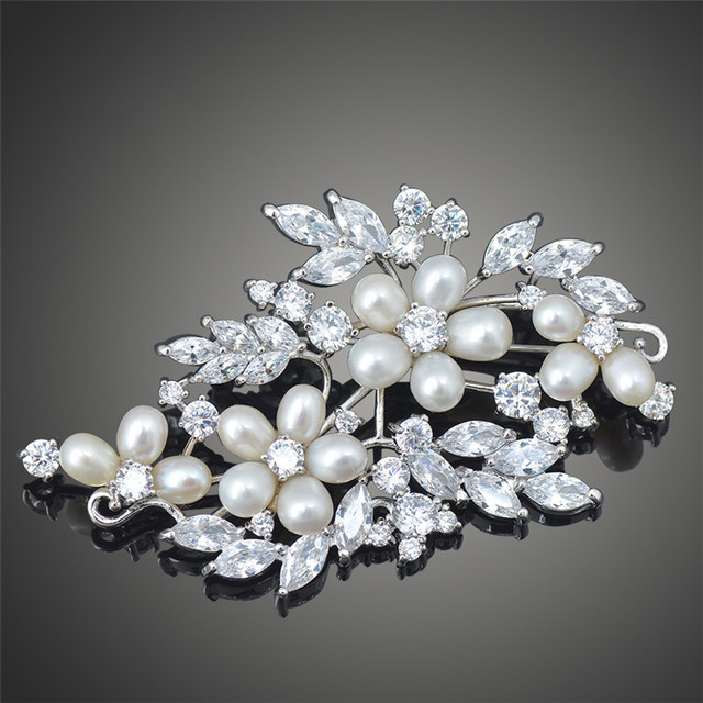 Incrível poder de corte brilhante AAA CZ diamante broches para mulheres venda de natal Broche de casamento jóias X00123