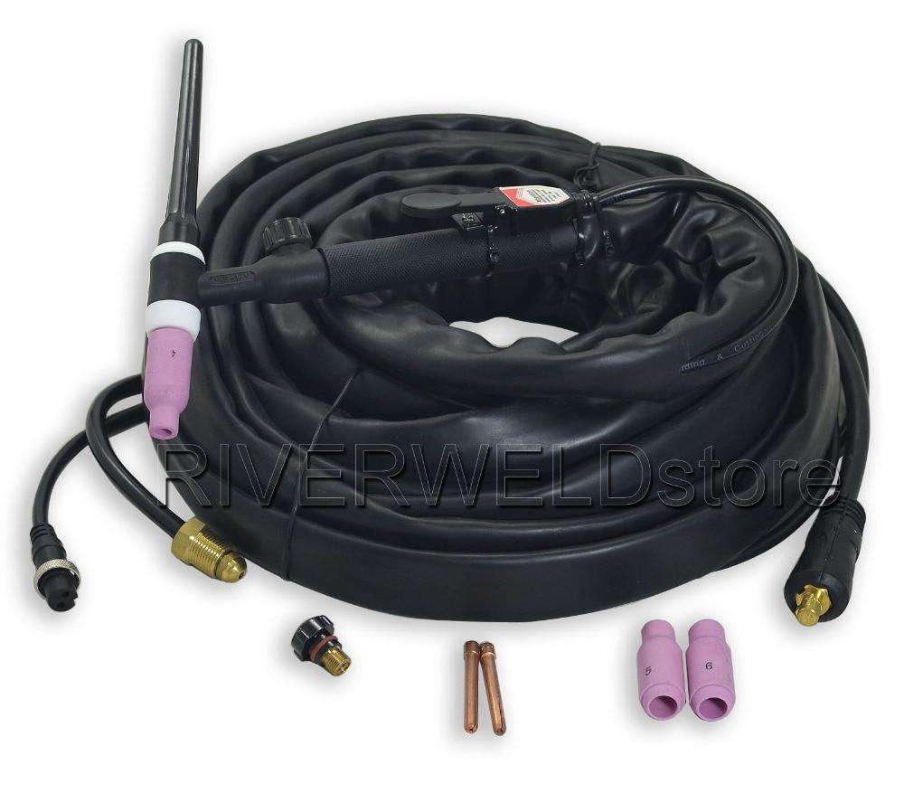 все цены на WP-17V-25-2 TIG Welding Torch Complete Valve Air Cooled 25 Feet CK10-25mm 5/8