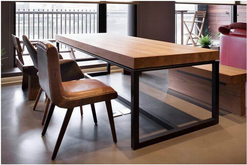 European solid wood dining table rectangular wood dining tables
