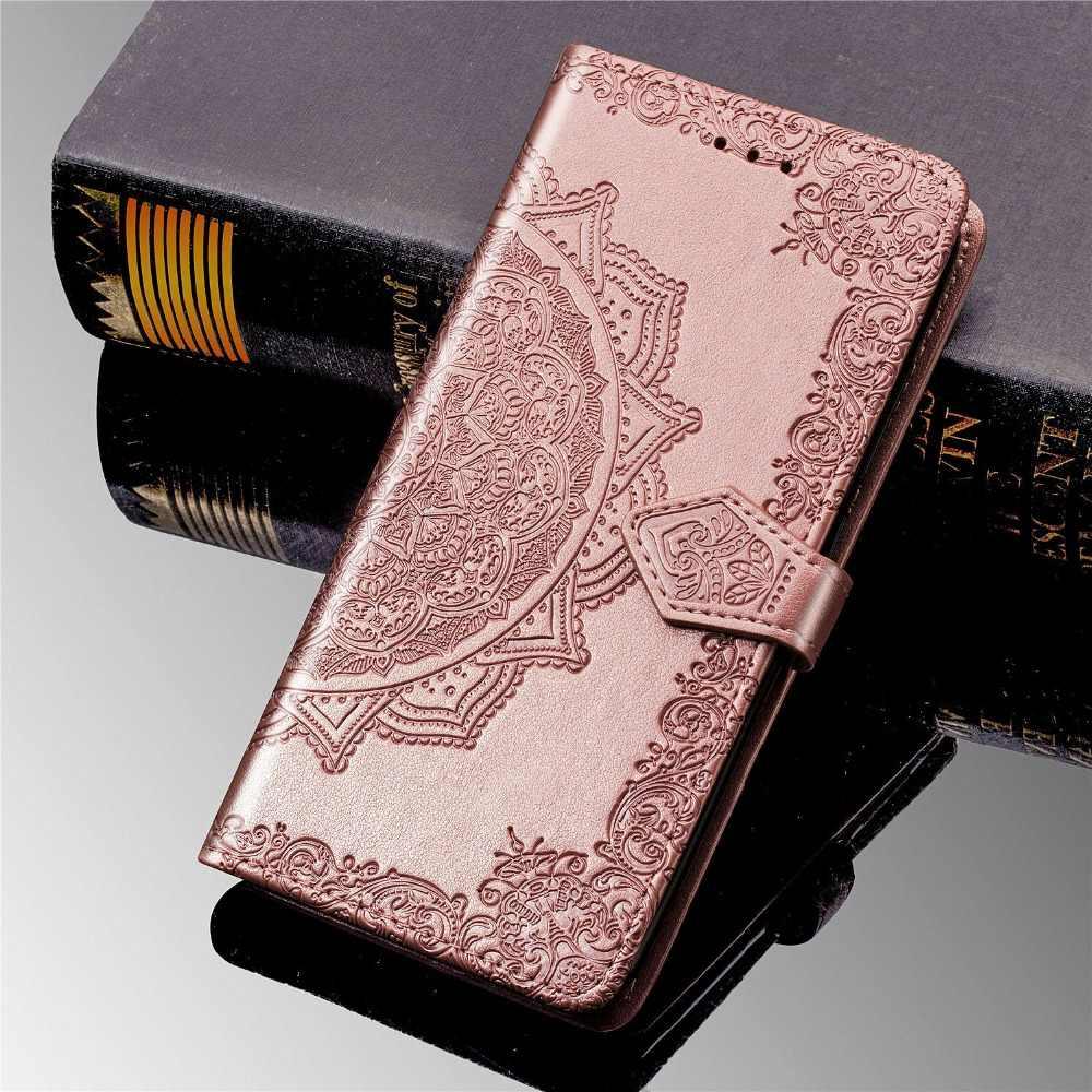 Per LG K40 Caso LG K40 Copertura Del Basamento Del Raccoglitore DELL'UNITÀ di elaborazione di Cuoio Del Telefono Del Sacchetto Del Supporto di Carta Della Copertura per Per LG K40 K 40 X420EM LM-X420EM copertura