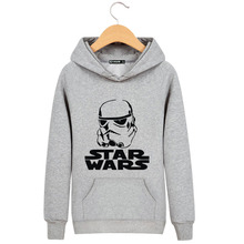 Your Father in Star Wars Black / Gray High Quality Harajuku Brand Sweatshirt and Fall / Winter Fashion Men Clown Sweatshirt 3XL