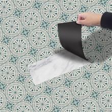 Ретро самоклеющиеся ПВХ пол в рулоне водонепроницаемые прочные толстые обои для отеля спальни наземного искусства Наклейка пол наклейка домашний декор