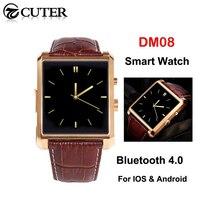 Neue DM08 Bluetooth Smart Uhr IPS Smartwatch Geniune Leder Business Armbanduhr Full View HD Bildschirm Für Android IOS Telefon