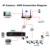 Smar mini hd onvif cctv nvr 8 canales grabador de vídeo h.264 red DVR De 720 P 960 P 1080 P IP Sistema de Vigilancia de la Cámara Caliente