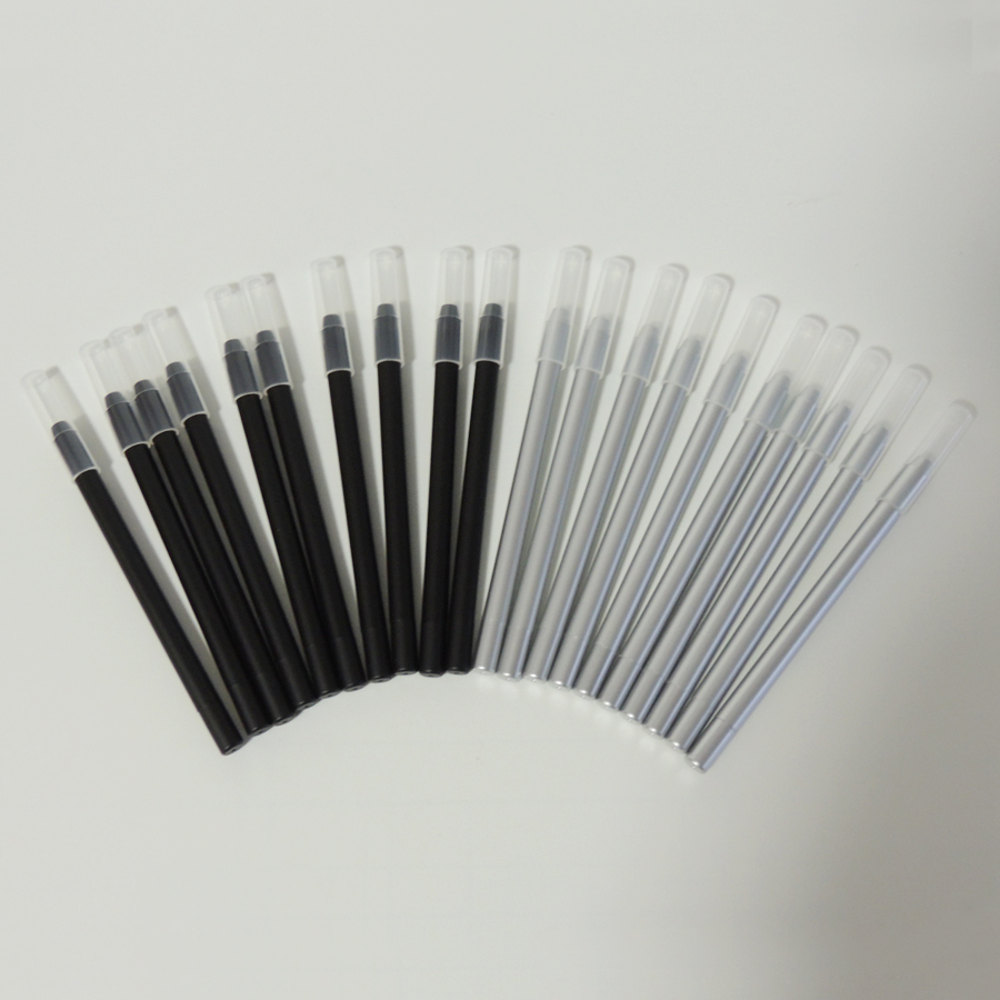Empty Eyeliner Pencil Packing, Ps Plastic Eyebrown Pencil Tube In Silver Black Color 12pcs/lot