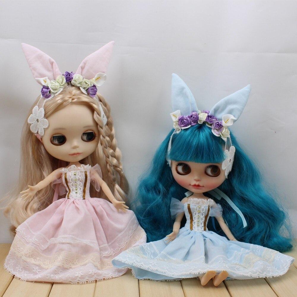 Neo Blythe Doll Wedding Dress With Rabbit Headdress 3