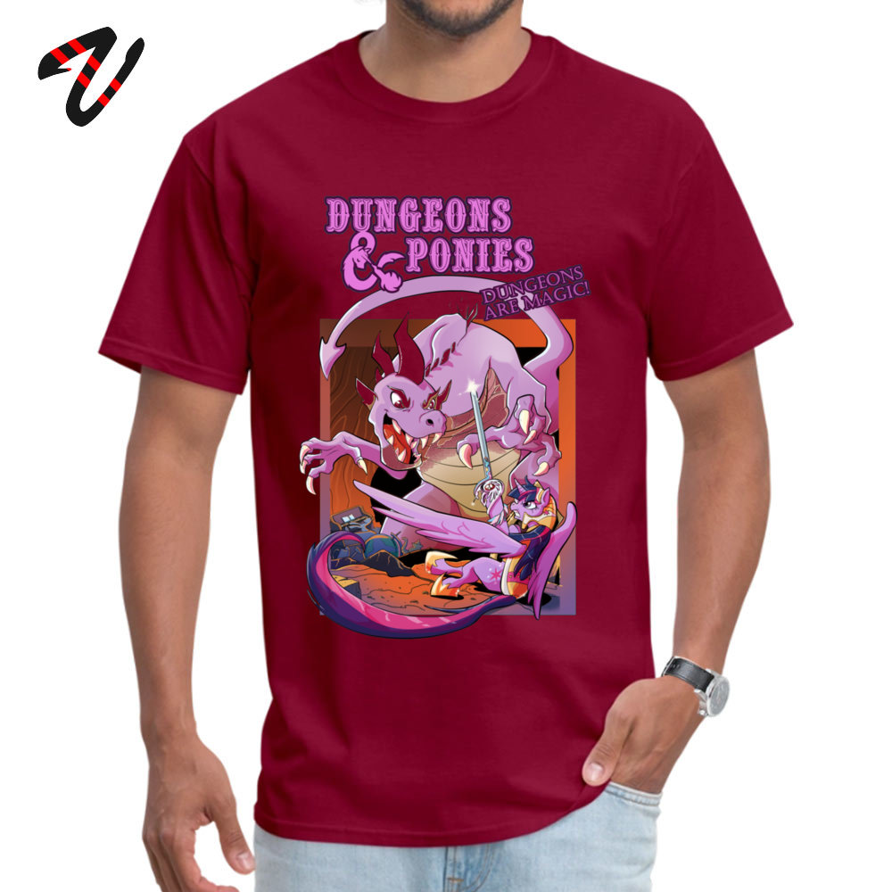 Dungeons & Ponies Casual ostern Day Pure Cotton O Neck Men's Tops Shirts Casual T-shirts High Quality Short Sleeve T Shirts Dungeons & Ponies -17417 maroon