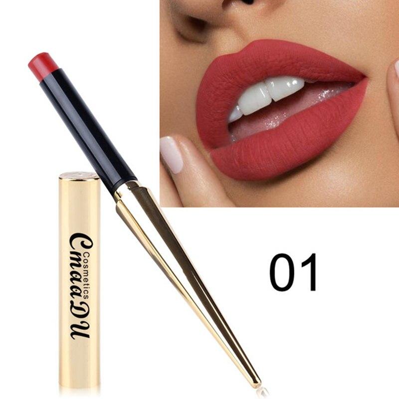 Detail Feedback Questions about Maquiagem Waterproof Matte Lipstick Nude  Makeup Cosmetics Sexy Red Lip Tint Pencil rouge a levre Mate Batom Korean  Lipstick ... 0a9e939206fc