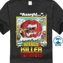 cd202cff694 Attack Of The Killer Tomatos Horror Occult Movie T Shirt S 6Xl   Xlt 3Xlt(