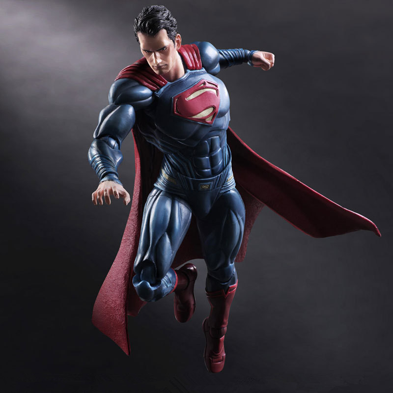 Movie Figure 25 CM PLAY ARTS KAI Batman V Superman Dawn of Justice Variant Superman PVC Action Figure Collectible Models Toys xinduplan dc comics play arts kai justice league batman reloading dawn justice action figure toys 25cm collection model 0637