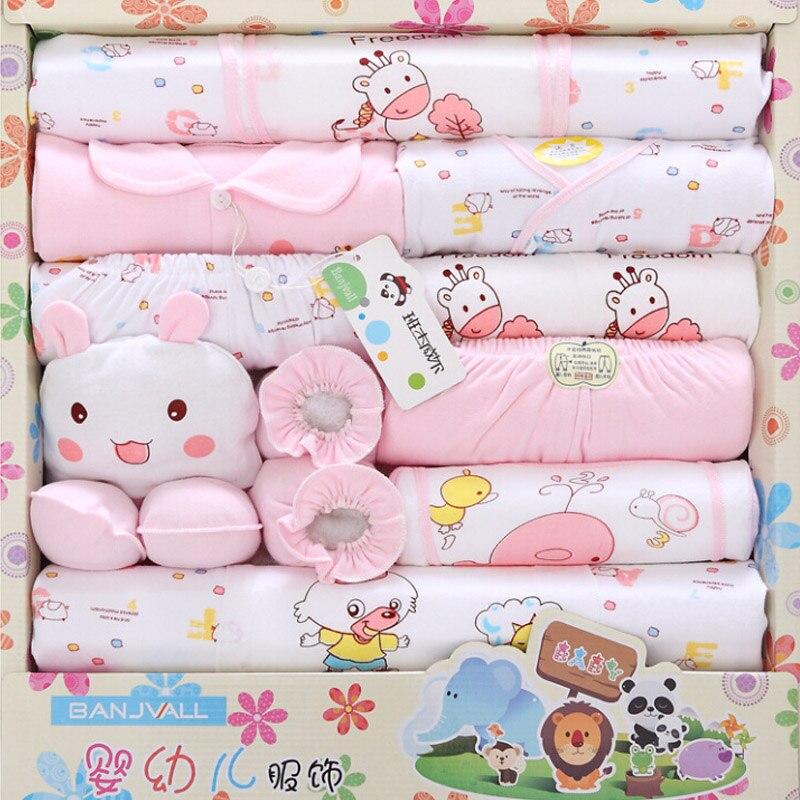 18 pièces/ensemble cadeau nouveau-né 0-3 M bébé vêtements ensemble 100% coton nouveau-né bébé vêtements costume filles garçons vêtements dessin animé vêtements pour bébés