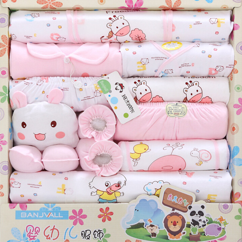 18pcs/set Newborn Gift 0-3M Baby Clothing Set 100% Cotton New born Baby Clothes Suit Girls Boys Clothes Cartoon Infant Clothing emotion moms 29pcs set newborn baby girls clothes cotton 0 6months infants baby girl boys clothing set baby gift set without box