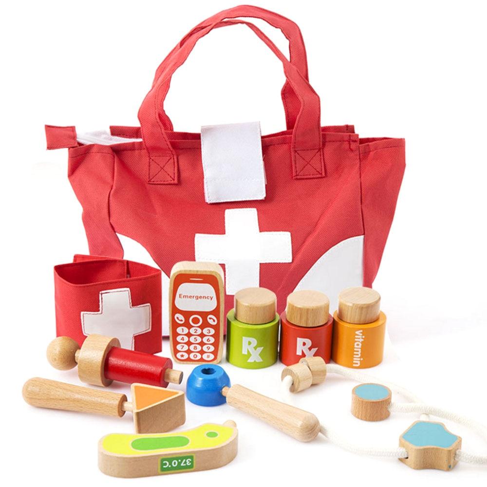 Enfants semblant jouer docteur infirmière jouet ensemble valise portable Kit médical enfants éducatif jeu de rôle docteur jouets