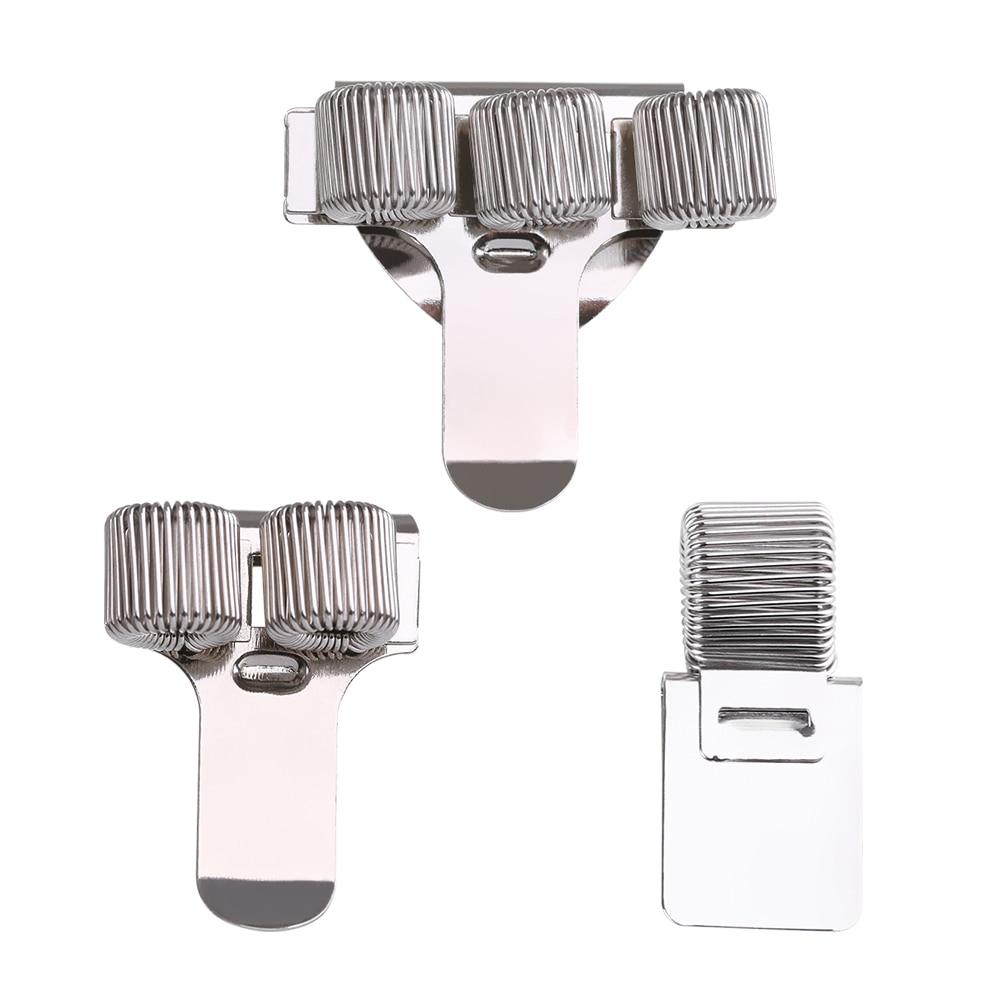 1Pc Single/Double/Triple Hole Metal Spring Pen Holder With Pocket Clip Doctors Nurse Uniform Pen Holders Office Supplies