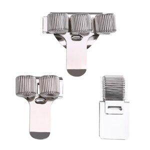 1Pc Single/Double/Triple Hole Metal Spring Pen Holder With Pocket Clip Doctors Nurse Uniform Pen Holders Office Supplies(China)