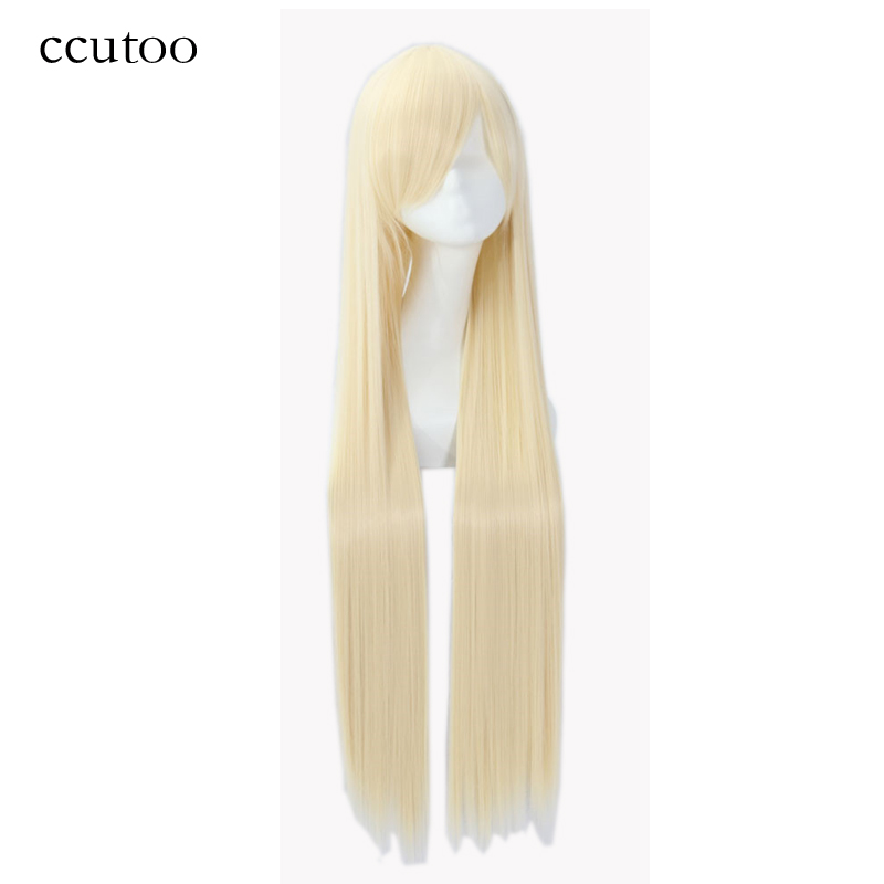 Ccutoo 100cm Long Straight Synthetic Hair High Temperature Cosplay Wigs 82 Colors Available
