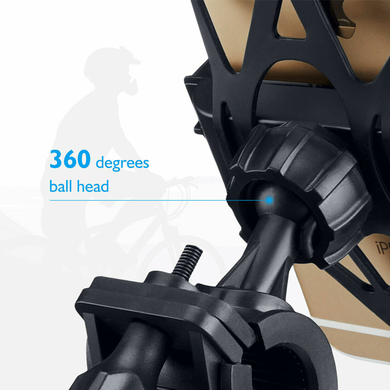 2019 Newest Fashion Universal Motorcycle MTB Bike Bicycle Handlebar Mount Holder For mobile Phone Hot Sale in Phone Holders Stands from Cellphones Telecommunications