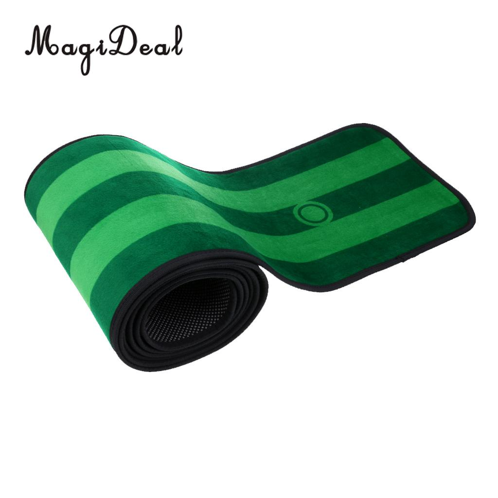 10' x 1' Non-slip Indoor Practice Golf Putting Green Mat Golf Training Aid with Putting Cup Flag and Storage Bag Training Aids mizuno aerolite x golf stand bag white royal