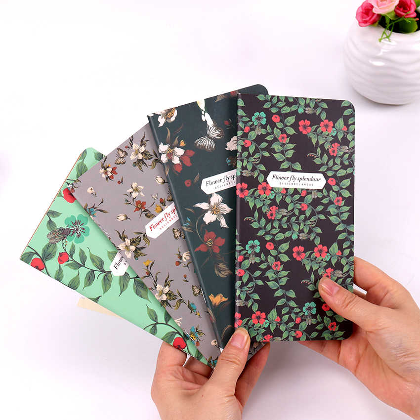 1PC New Retro Dancing Butterflies Series Notebook Vintage DIY Diary Pocket Notepad
