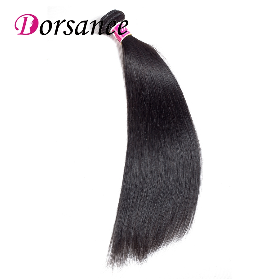 Dorsanee Indian Straight Hair Bundles 100% Human Hair Weave Bundles Natural Color Non Remy Hair Extensions Buy 3 or 4 Bundles