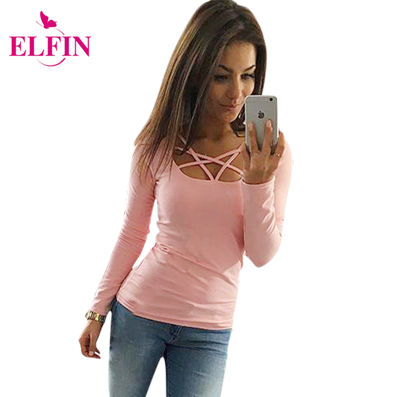 2017 autumn t shirt women long sleeve slim fit fashion ladies top hollow out tops tee solid. Black Bedroom Furniture Sets. Home Design Ideas