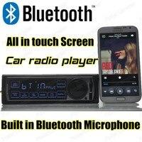 החדש 12 v רכב רדיו נגן mp3 fm רכב אודיו סטריאו bluetooth מסך מגע נגן אודיו bluetooth w / יציאת usb sd / mmc בדש 1 דין