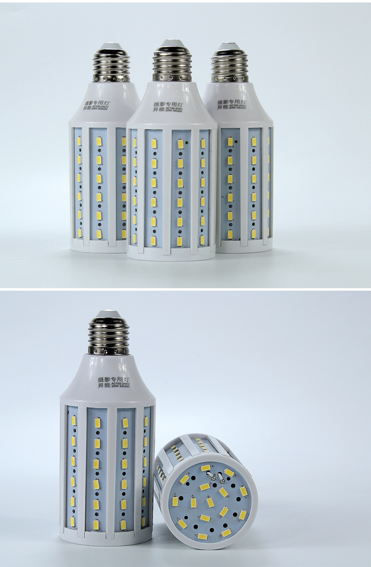 20W 5500K 185-245V LED Corn Light Photo Studio Bulb Photography Daylight Lamp photographic light Led