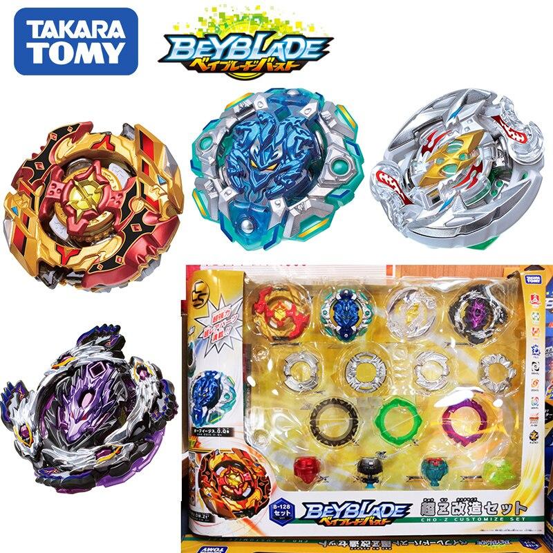 Original TOMY Beyblade explosión B-128 Super Z 4 unids/set CHO-Z personalizar conjunto Bayblade ser hoja superior spinner juguetes clásicos para los niños